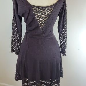 Free People grey lacey boho dress SzS